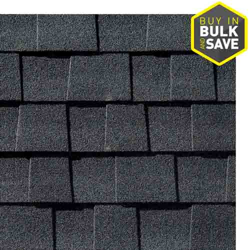 GAF Timberline Natural Shadow 33.3-sq ft Charcoal Laminated Architectural Roof Shingles