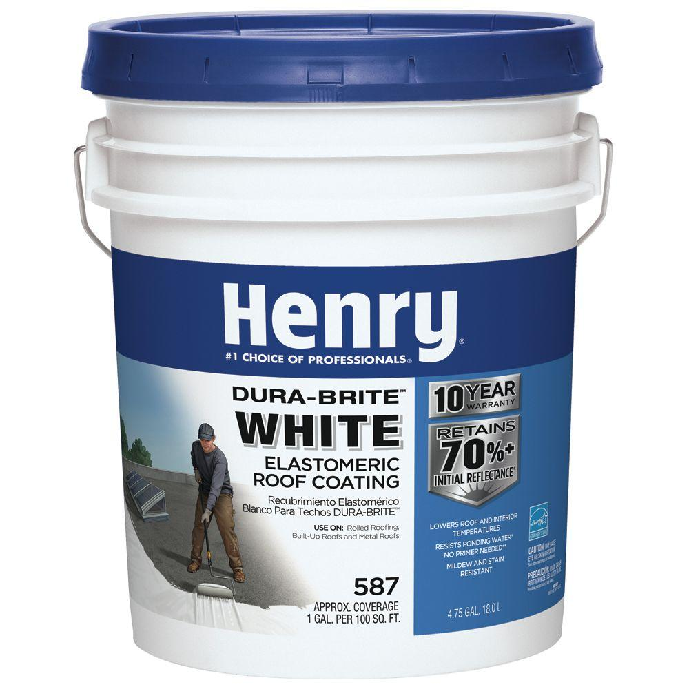 4.75 Gal. 587 White Roof Coating
