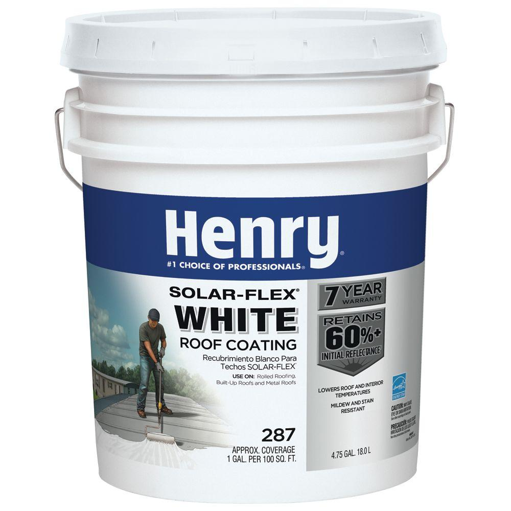 4.75 Gal. 287 Solar-Flex White Roof Coating