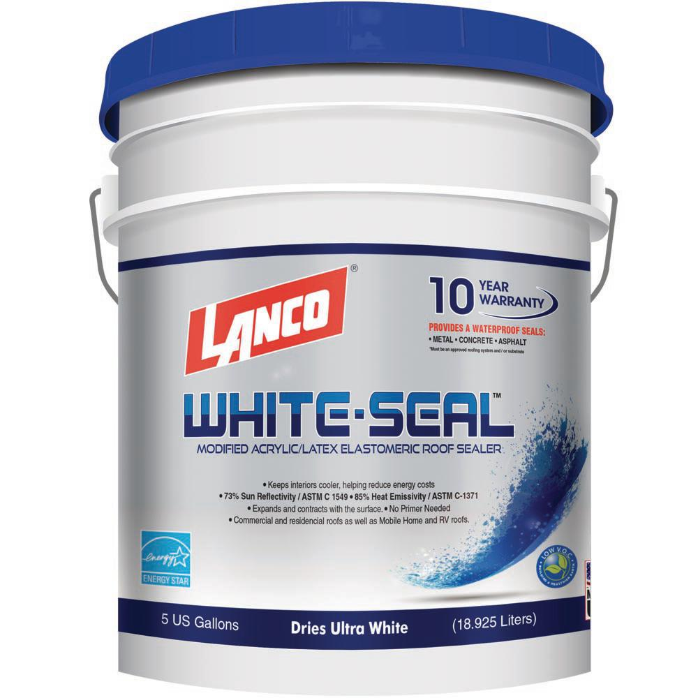 5 Gal. White Seal Reflective Roof Coating