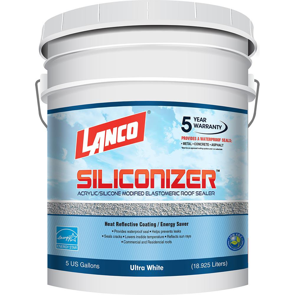 5 Gal. Siliconizer Elastomeric Sealer Reflective Roof Coating