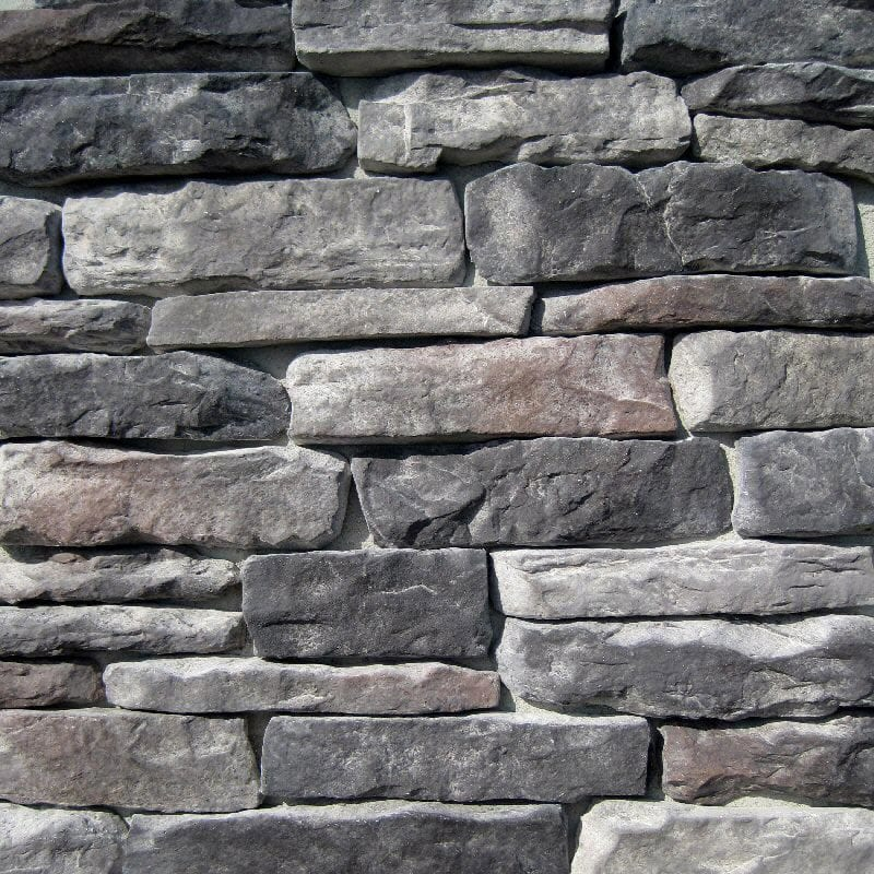 Black Bear Manufactured Stone - Ledge Stone Midnight/Midnight / 10 Sq ft Flat
