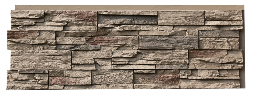 StoneWorks StoneWorks Faux Stone Siding - Ledge Stone/Grand Teton Buff / 16.96 Sq ft Flat
