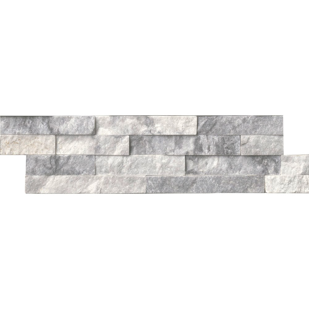 MS International Stone Siding - Marble Alaska Gray Collection/Alaska Gray / Ledgestone / 6'x24' / Marble