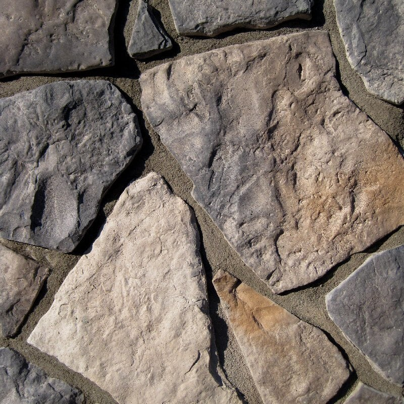 Black Bear Manufactured Stone - Field Stone Rustic/Rustic / 10 Sq ft Flat