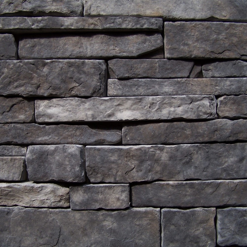 Black Bear Manufactured Stone - Stacked Stone Black Forest/Black Forest / 10 Sq ft Flat