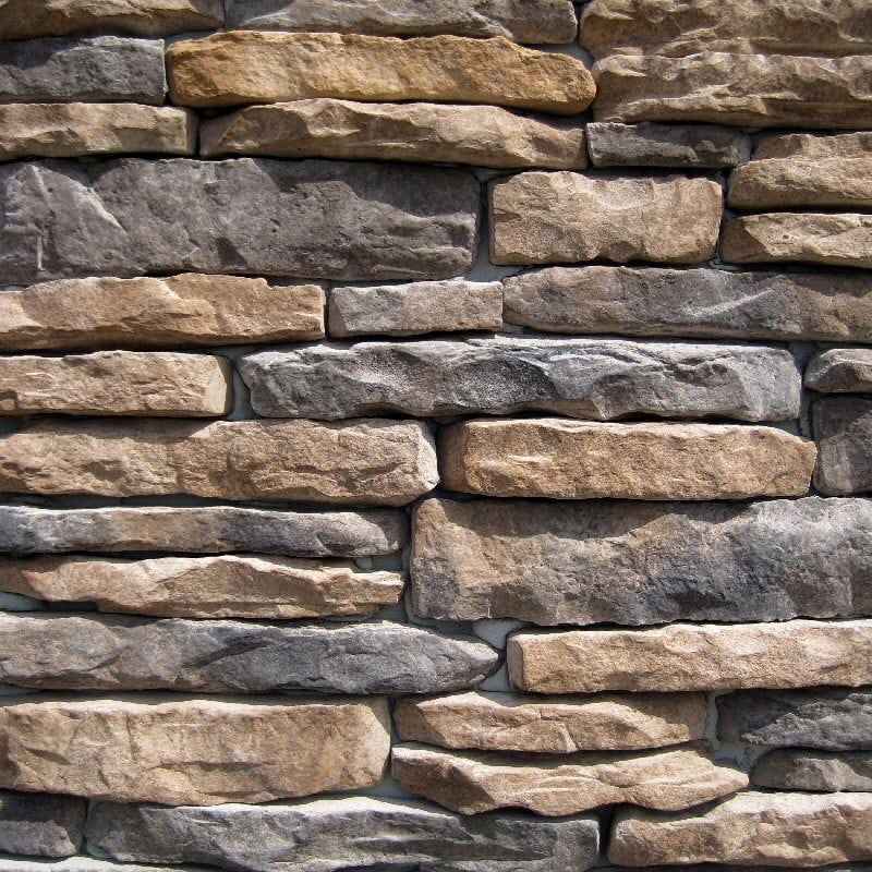 Black Bear Manufactured Stone - Ledge Stone Sonoma/Sonoma / 10 Sq ft Flat