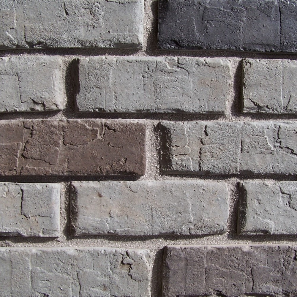 Black Bear Manufactured Stone - Brick Stone Georgetown Gray/Georgetown Gray / 25 Sq Ft Flat