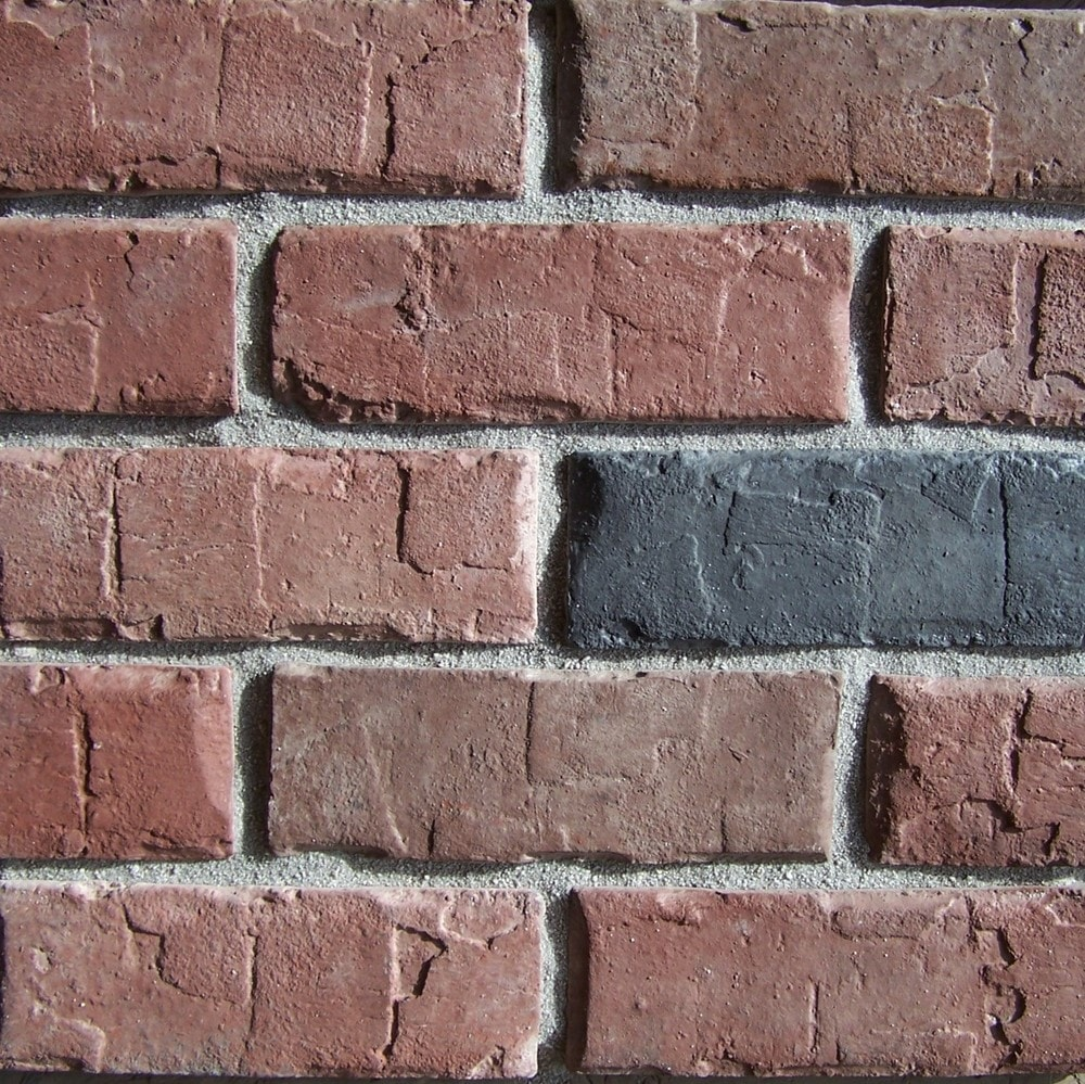 Black Bear Manufactured Stone - Brick Stone Hampton Red/Hampton Red / 25 Sq Ft Flat