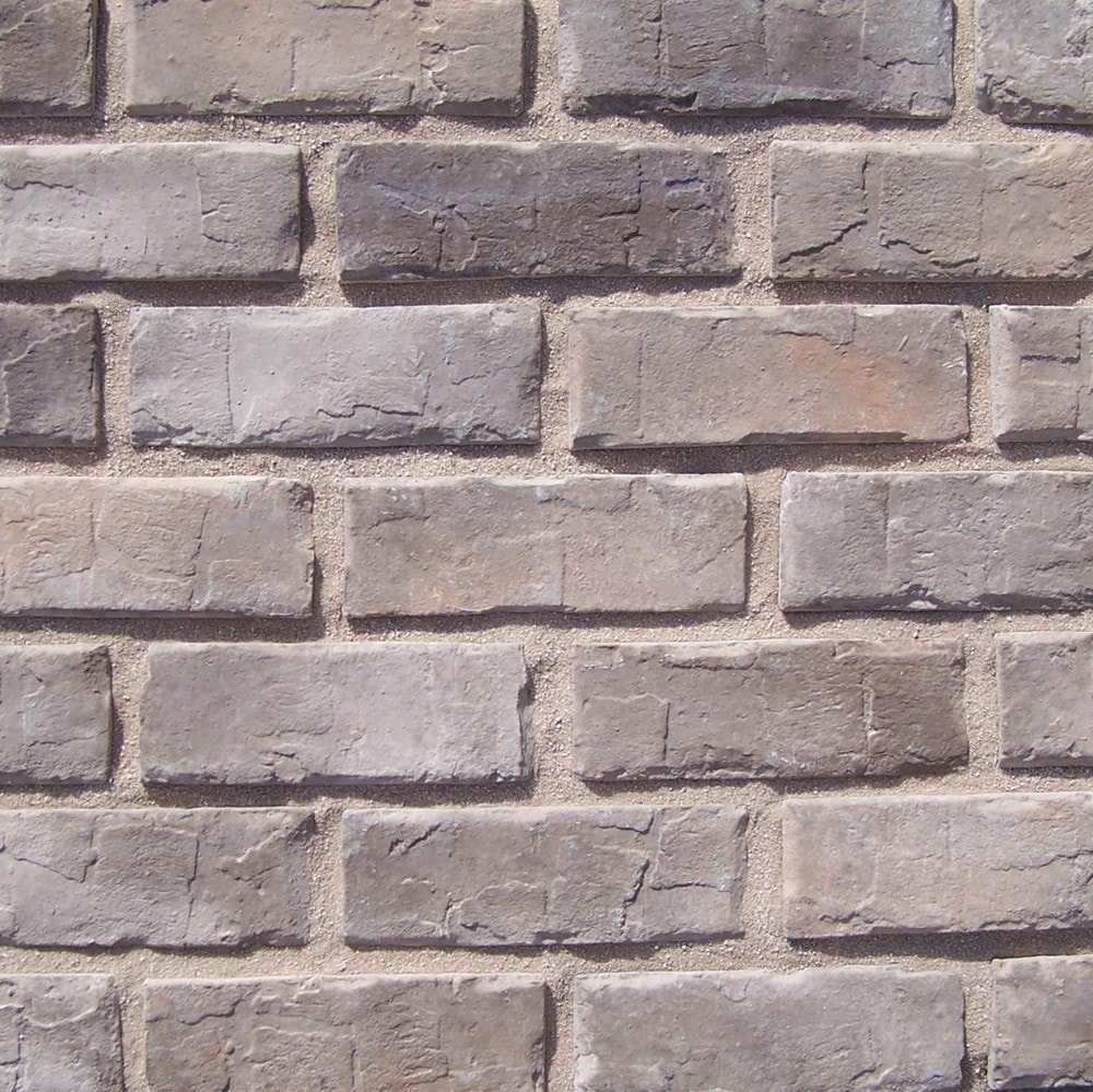 Black Bear Manufactured Stone - Brick Stone Charleston Gray/Charleston Gray / 14 Lineal Ft Corner