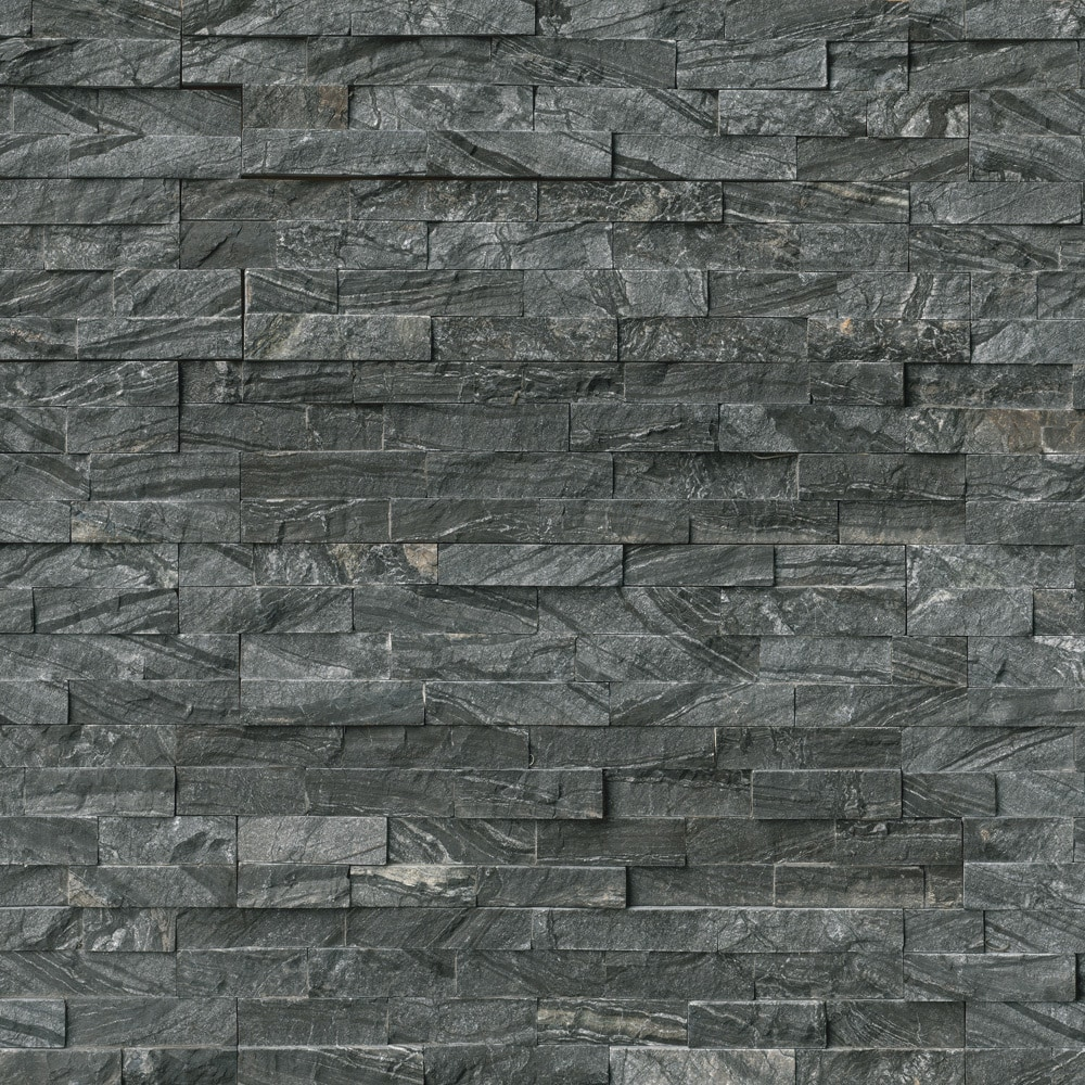MS International Stone Siding - Marble Glacial Black  Collection/Glacial Black / Ledgestone / 6'x24' / Marble